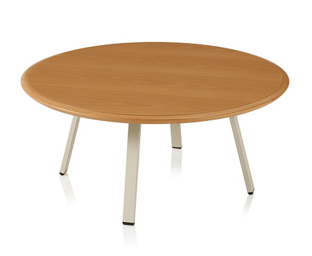 SolticeMetal RoundCoffeeTable 16Tall36Wide MonticelloMaple