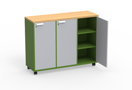 Ruckus SF cubby 5442 doors casters angle2