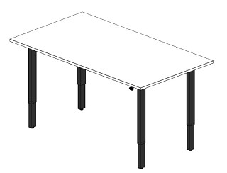 Work2.1 Sit-Stand 4-Leg Table Variations Revit