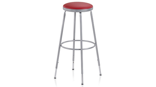 Upholstered Industrial Stool