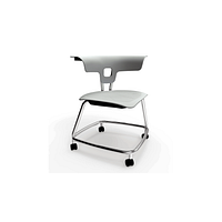 Stack Chair with Casters, Poly Seat