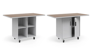 Ruckus Worktables | Single-Faced Cubby Storage