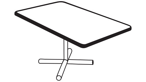 Rectangular Top (Fixed/Folding Leg or Flip Top) w/optional Modesty Panel or Power
