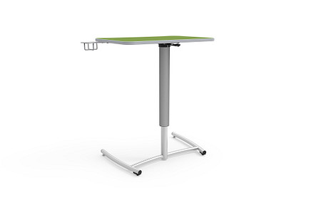 Ruckus desk adj pneumatic rolling cupholder
