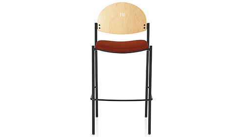 cafe round back wood back uph seat