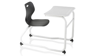 Intellect Wave Desks | Extra Large Double-Entry Poly Desk