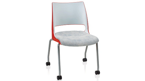 4-Leg with Casters with 2-Tone Shell (Upholstered Seat)