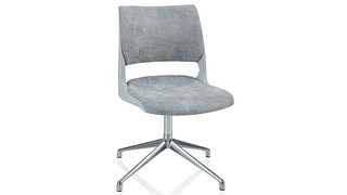 Doni Guest Chair | Fourstar Swivel with Solid Shell (Upholstered Seat & Back)