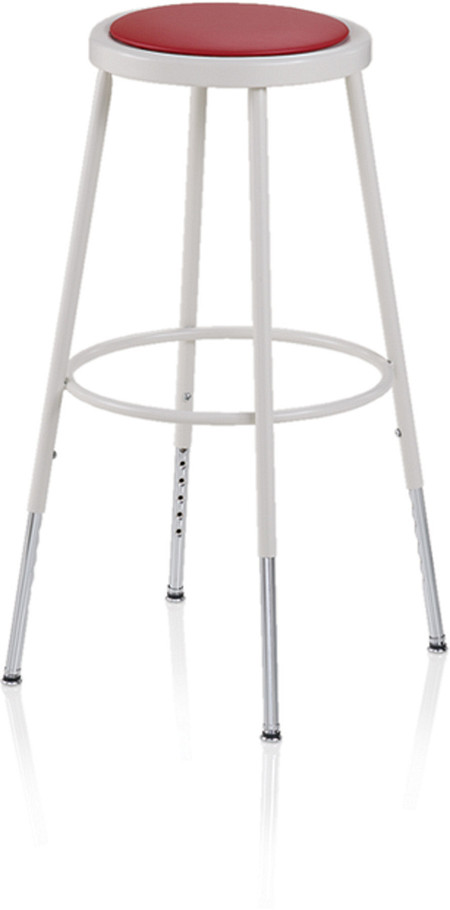 600 Series Industrial Stool Upholstered Adjustable Leg