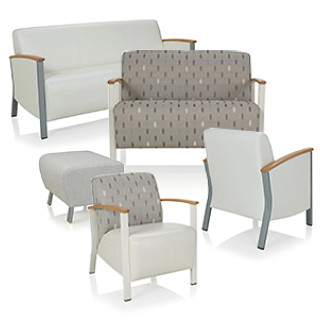Soltice Metal Lounge Seating Revit Symbols