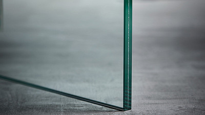 "Glass | 3/8"" Clear Laminate"