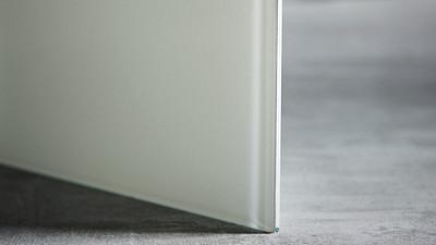 "Glass | 1/4"" White Laminate, 10% Opacity"