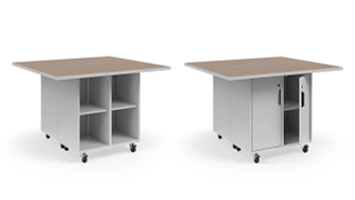 Ruckus Worktables | Double-Faced Cubby Storage
