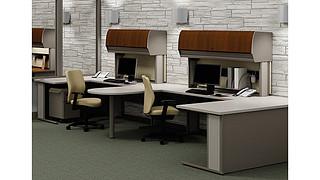 WorkZone Desking System | BALANCE OVERHEAD-WORKZONE