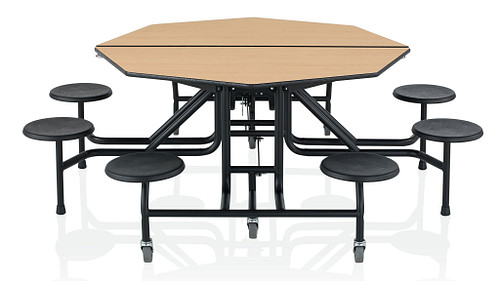 Octagonal Table with Stools
