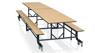 CafeWay Cafeteria Tables | Rectangular Table with Benches