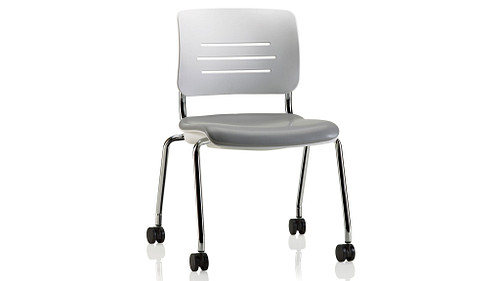 Casters with Upholstered Seat