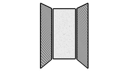 Steel Exterior Panels; Interior Panels: Left-Fabric Rear-Steel Right-Fabric