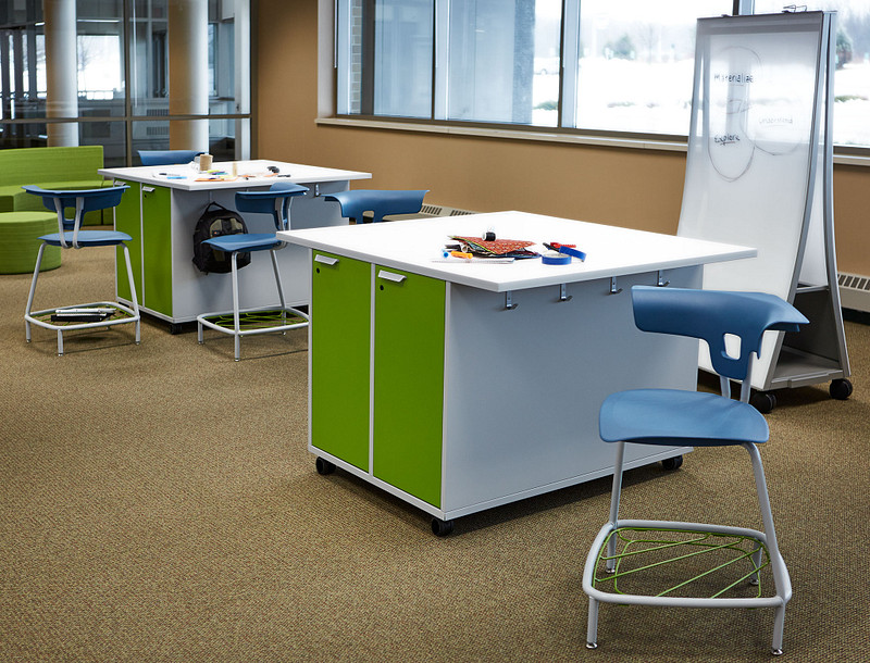 Featuring Ruckus Work Tables and Ruckus Stools