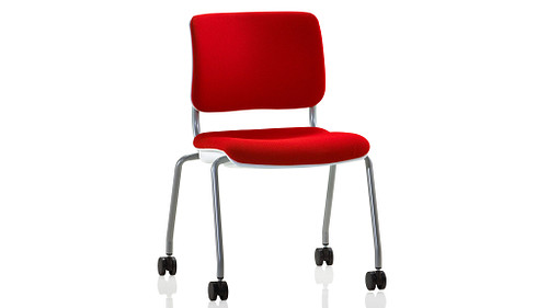 Casters with Upholstered Seat and Back