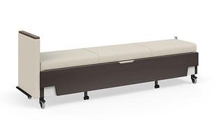 Hiatus Sleeper Bench   No Back, Left Arm