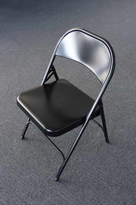 SeriesFoldingChair Steel Black