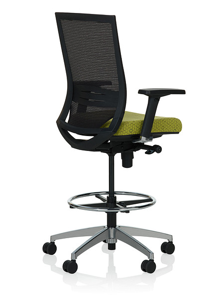 Sift task stool arms uph back