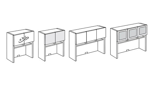 Surface-Mount Overhead Hutch with Paper Sorter