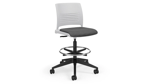 Task Stool with Upholstered Seat