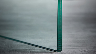 "Glass | 1/2"" Clear Laminate w/.03 Interlayer + Acoustic Layer"