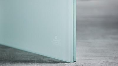 "Glass | 1/2"" White Laminate, 65% Opacity"