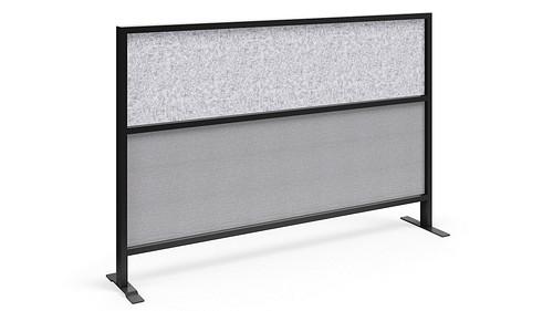 Segmented Flex Screen w/Fabric Lower, Polyester Felt Upper Core