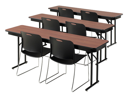 Emissary Folding Table rows with Maestro