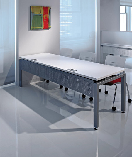 ConnectionZonePrivacyBooth&BenchingTablewithmodestypanel