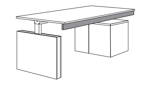 Modular Height-Adjustable Modesty Panel