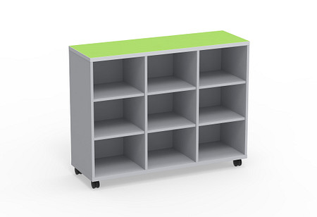 Ruckus SF cubby 5436 open casters angle1