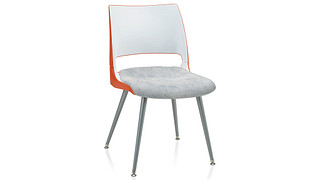 Doni Guest Chair | Tapered Steel Leg with 2-Tone Shell (Upholstered Seat)
