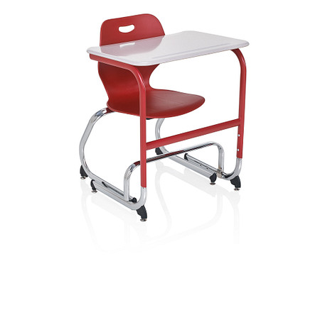 Wave desk sitstand low angle chair footbar