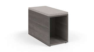 MyPlace Lounge Furniture | Rectangular In-Line Table w/ Upholstered Pad