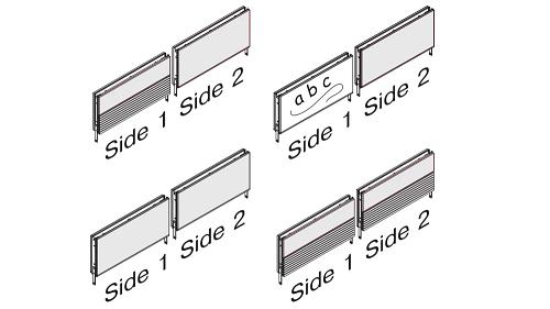 Stacking Panel - Fabric, Fabric + Markerboard, Fabric + Slat Wall