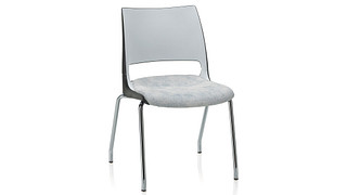 Doni Stack Chair | 4-Leg with 2-Tone Shell (Upholstered Seat)