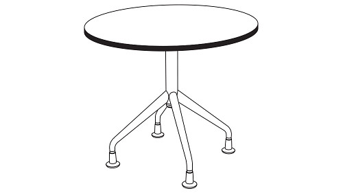 Round Top (Fixed/Folding/Pin-Height Adjustable Leg or Flip-Top)