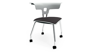 Ruckus Chair | 4-Leg Chair with Casters, Upholstered Seat