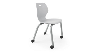 Intellect Wave Chair | 4-Leg Poly Chair with Casters