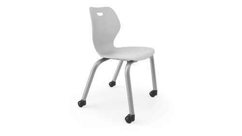 4-Leg Poly Chair with Casters