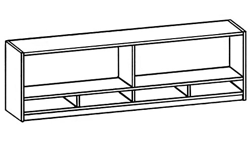 Wall-Mount Open Hutch with Paper Sorter