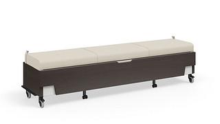 Hiatus Sleeper Bench   No Back, No Arms