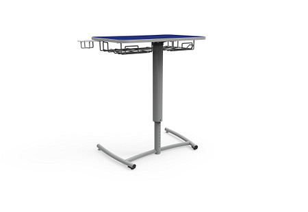 Ruckus desk adj set screw rolling bookrack cupholder