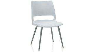 Doni Guest Chair | Tapered Steel Leg with Solid Shell (Poly)