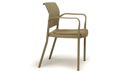 Wallsaver Stack Chair with Upholstered Seat